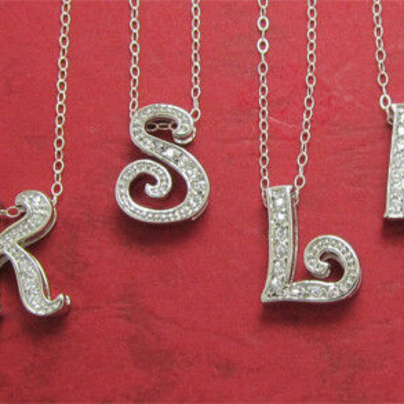 Sterling Silver Letters Jewelry - NWT letter charm 925 sterling silver initial